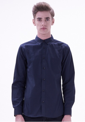 Drum navy Smart Casual Long Sleeve Shirt DR425AA13CPYMY_1