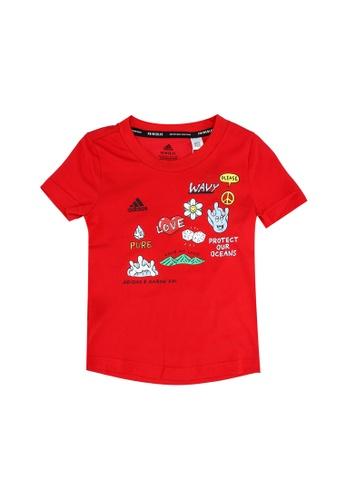 ADIDAS red aaron kai x graphic t-shirt F8D60KA3B39106GS_1
