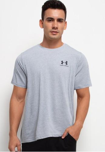 Under Armour grey Sportstyle Left Chest Short Sleeve Tee A0E5FAA0B47B52GS_1
