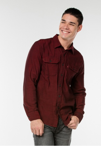 Levi's red Classic Worker Shirt E4A39AA789284FGS_1