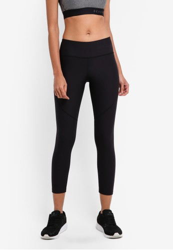 8f8b67c14b TB Balance Crop Bottoms - Black/Green Typhoon/Metallic Iron - Under Armour
