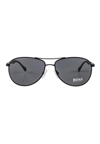 Hugo Boss black HUGO BOSS Aviator Black Sunglasses 0824S HU898AC31OWMMY_1