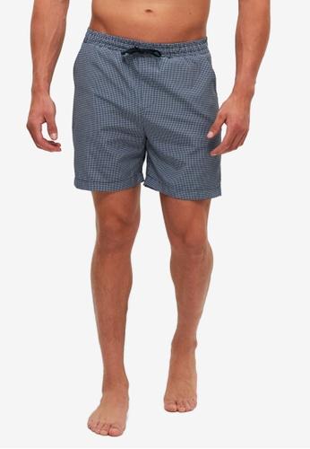 Trendyol navy Printed Pajama Shorts 519C6AA53F5E8CGS_1