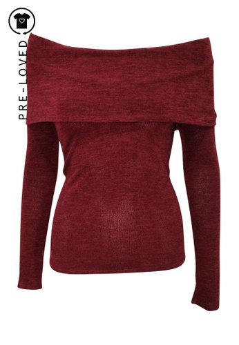 Reformation red Pre-Loved reformation Burgundy Sweater 8BEE3AA552AFB2GS_1