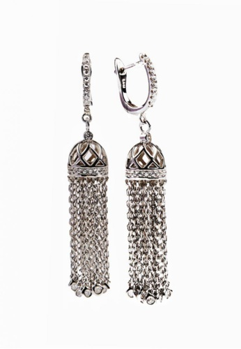 SHANTAL JEWELRY silver Cubic Zirconia Silver Tassel Leverback Earrings SH814AC15TXSSG_1