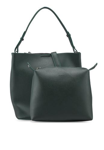 VINCCI green Faux Leather Tote Bag C08C1AC8A30E68GS 1