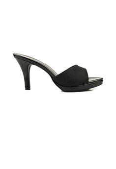 SHINE black Slip On Glimmering Sandels 56EC8SH999BC41GS_1