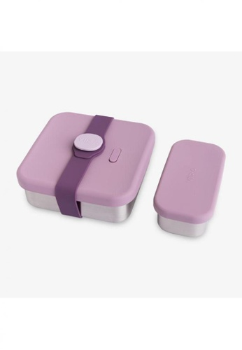 Viida [VIIDA] The Morgen Series Kassie Stainless Steel Lunch Box with Leak-proof lid, Purple - LFGB Germany, FDA & SGS Certified Safe C43D5HL50E90B0GS_1