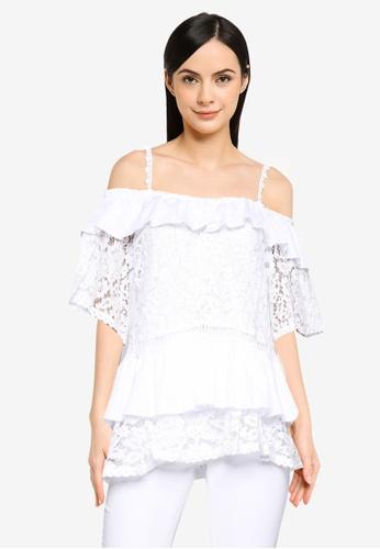 Guess white Short Sleeve New Olimpia Top 9B3C3AA9E29E57GS_1