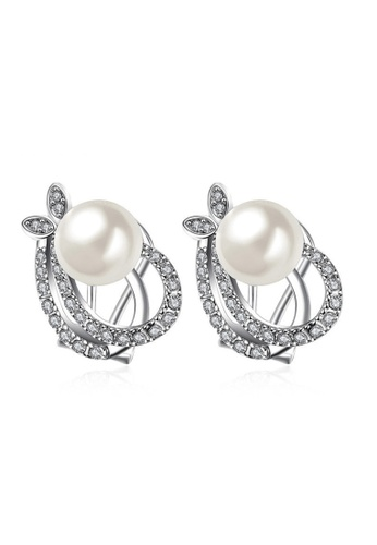 Kings Collection silver Fashion Eggplant Beads Pearl Earrings DC3CEAC202BDD8GS_1