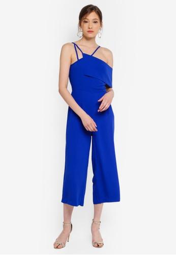 Lavish Alice blue Multi Strap One Side Bandeau Culotte Jumpsuit C4746AA45B855CGS_1