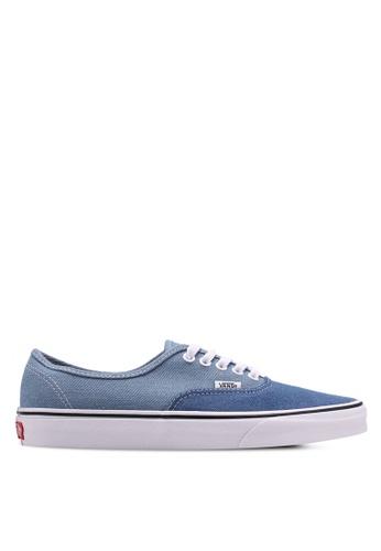 VANS blue Authentic Denim 2-Tone Sneakers VA142SH0SWSUMY_1