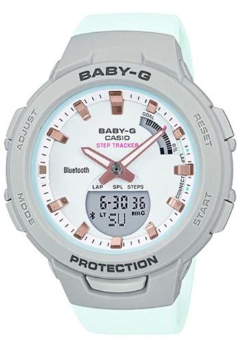 CASIO multi Casio Baby-G BSA-B100MC-8ADR Grey and Aqua Resin Watch 9CB00AC465C15BGS_1