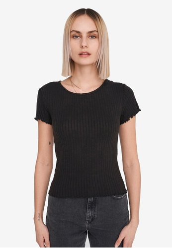 Noisy May black Berry Short Sleeve O-neck Top 10E19AAA3F5D1BGS_1