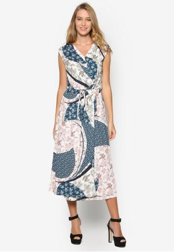 esprit旗艦店佩斯利印花腰飾及膝洋裝, 韓系時尚, 梳妝