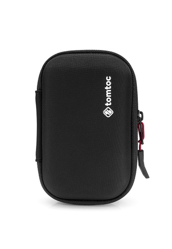 tomtoc black tomtoc EVA Shockproof Travel Case for 2.5 Inch Portable External Hard Drive - External Battery - HP Sprocket Portable Photo Printer, with 4 SD Card Slots (WD My Passport, Seagate Backup Plus) 69B0BAC6B48003GS_1