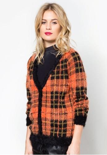 格紋針織外套, 服飾zalora taiwan 時尚購物網, 外套
