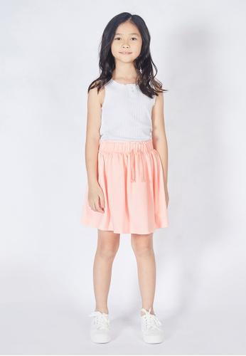 Gen Woo pink Neon Pink Drawstring Skirt By Gen Woo 38746KAA923A87GS_1