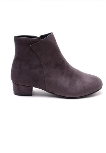 Crystal Korea Fashion grey Korean Autumn And Winter Wild Suede Boots 04DF7SH5269EB5GS_1