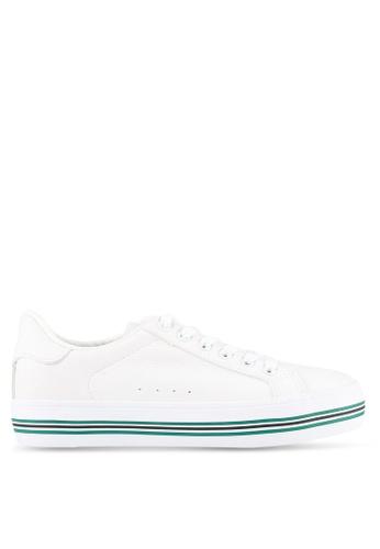 Twenty Eight Shoes white Striped Platform Sneakers TW281SH0S0I2MY_1