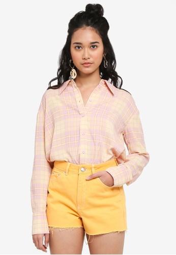 TOPSHOP multi Checked Long Sleeve Shirt A5A14AA0B36702GS_1