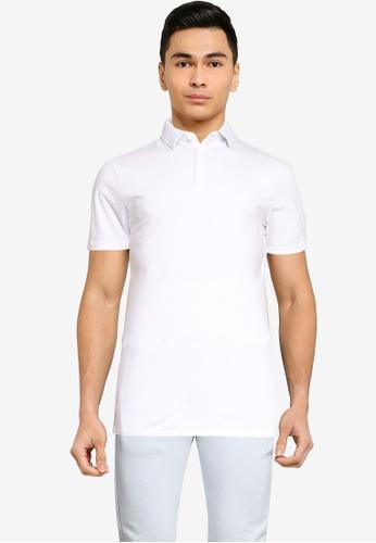 Brave Soul white Short Sleeve Polo Shirt C06ECAAC5EFF63GS_1