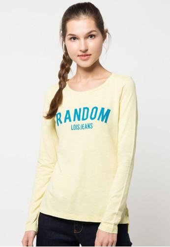 LOIS JEANS yellow Long Sleeve T-Shirt LO391AA33KGCID_1
