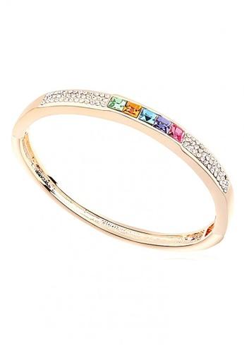 LOVENGIFTS multi LOVENGIFTS Glitter Rainbow Bangle (Multi) LO429AC68NVFMY_1