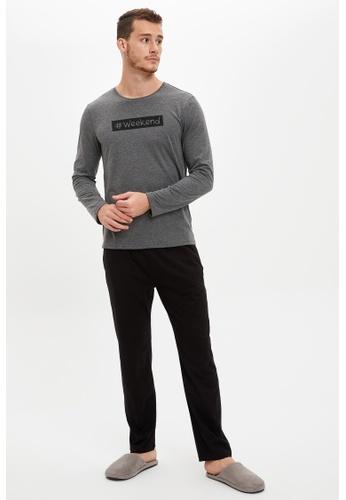 DeFacto grey Man 2-pieces Homewear Knitted Set 22DDDAAEA99EEBGS_1