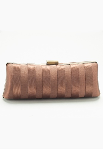 Stylesource brown Framed Satin Clutch ST896AC82DCNPH_1