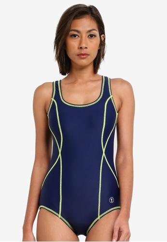 Funfit navy Accent Swimsuit FU839US0S9WBMY_1