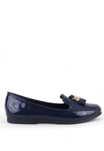 7soles navy Callista Flat Shoes C807CSHA38529FGS_1