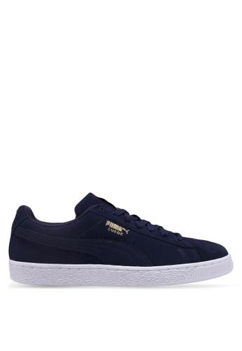 Puma blue Sportstyle Prime Suede Classic Shoes 14665SH902CFAEGS_1