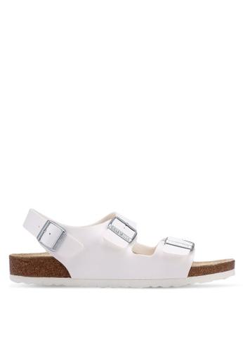 Birkenstock white Milano Birko-Flor Sandals D32E0SHC9D2CA8GS_1