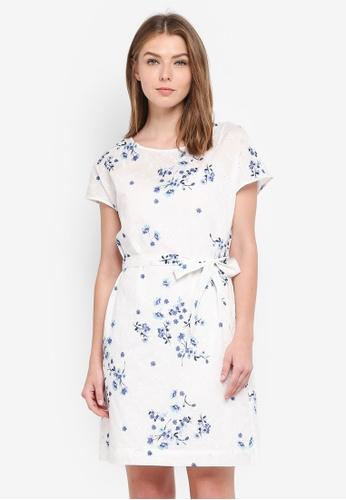 ESPRIT white Light Woven Mini Dress DA770AA37A3517GS_1