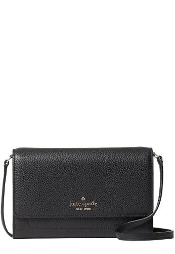 KATE SPADE black Kate Spade Harlow Wallet On a String in Black 3800FACFEC0B84GS_1