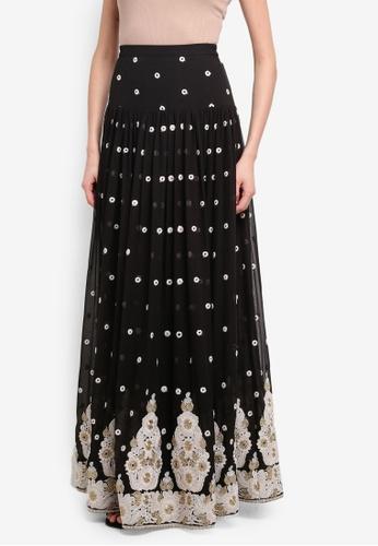 Rizalman for Zalora black and gold Harsha Lahengga Skirt RI909AA0SEYPMY_1