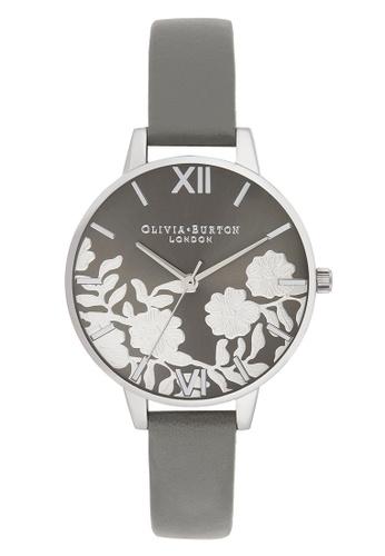 Olivia Burton grey Olivia Burton Lace Detail DARK GREY  34mm Women's Watch C53ACACDFEEF2FGS_1