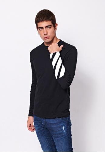 Sisley black Printed Sweater 80339AA6EC181FGS_1