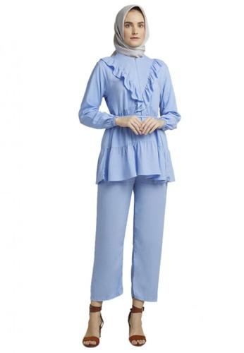 TITAN'S WARDROBE blue Blue Macaron Daily Set 07DDDAA2D58F74GS_1
