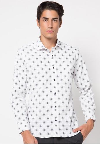 EDITION white Diamond Shirt ED101AA65CZIID_1