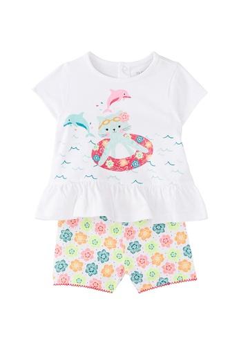 Du Pareil Au Même (DPAM) white Printed Pyjamas E5C09KA22A92BFGS_1