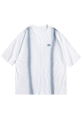 Twenty Eight Shoes Hand Inkjeted Short T-shirt 1628S21 0D4C3AA7A1DE4DGS_1