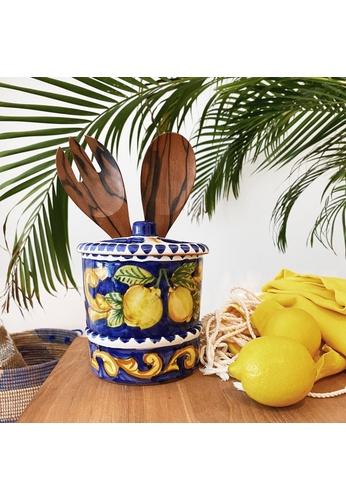 Living DNA Lemon Ceramic Utensil Holder - Blue 679E6HLFCE0658GS_1