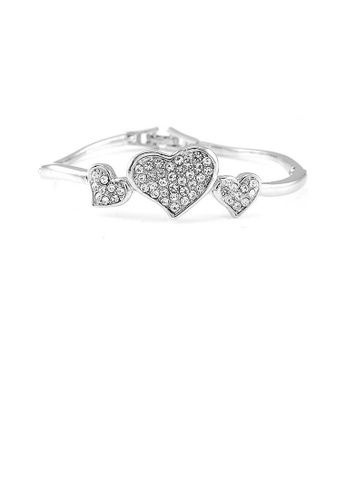 Glamorousky silver Sweety Heart Bangle with Silver Austrian Element Crystal 0A288ACF28E044GS_1