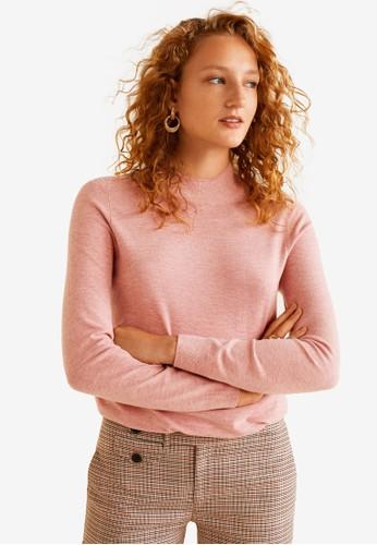 MANGO pink Fine-Knit Sweater 5FBDEAA7FBA7AAGS_1