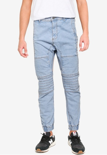 Cotton On blue Slim Denim Jogger (Moto) CC668AA8B2BC1EGS_1