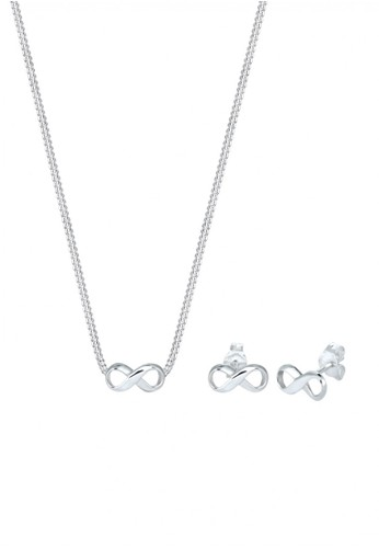 Elli Germany silver Perhiasan Wanita Perak Asli - Silver Perhiasan Set Basic Infinity 70C4DAC019360FGS_1
