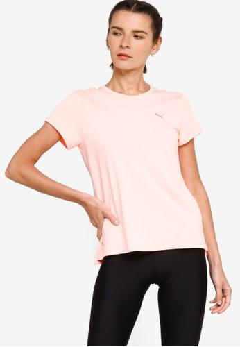 Puma pink Favourite Heather Short Sleeve Tee 96BA9AA38247DFGS_1