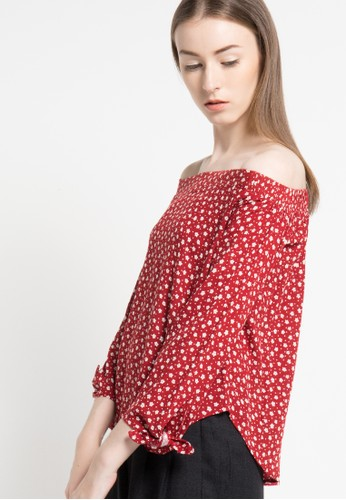 sophistix red Freya Blouse In Red Floral Print SO829AA64DULID_1